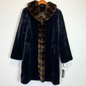1 Madison NEW Heavy Faux Fur Coat Sz S